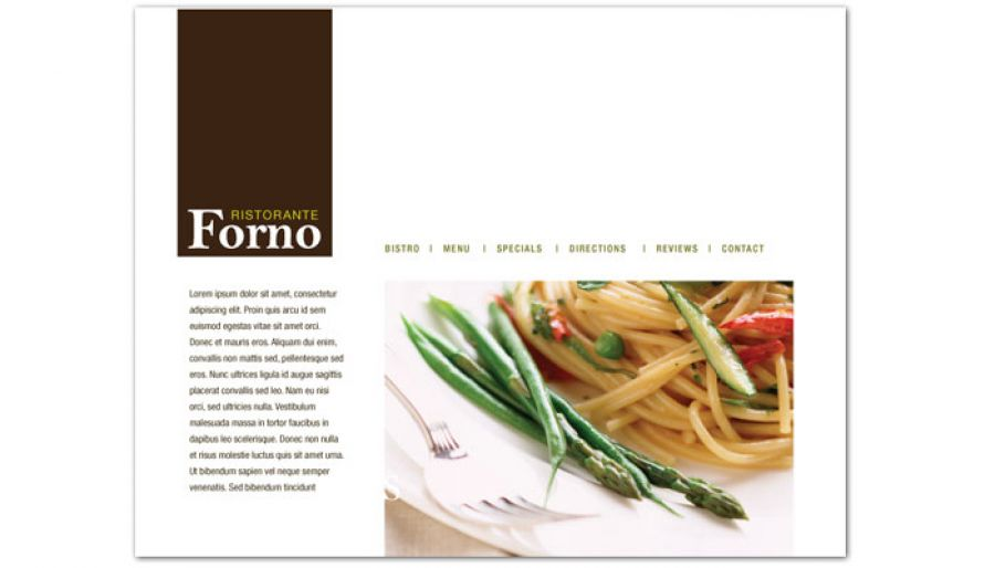 Italian Ristorante Website Design Layout