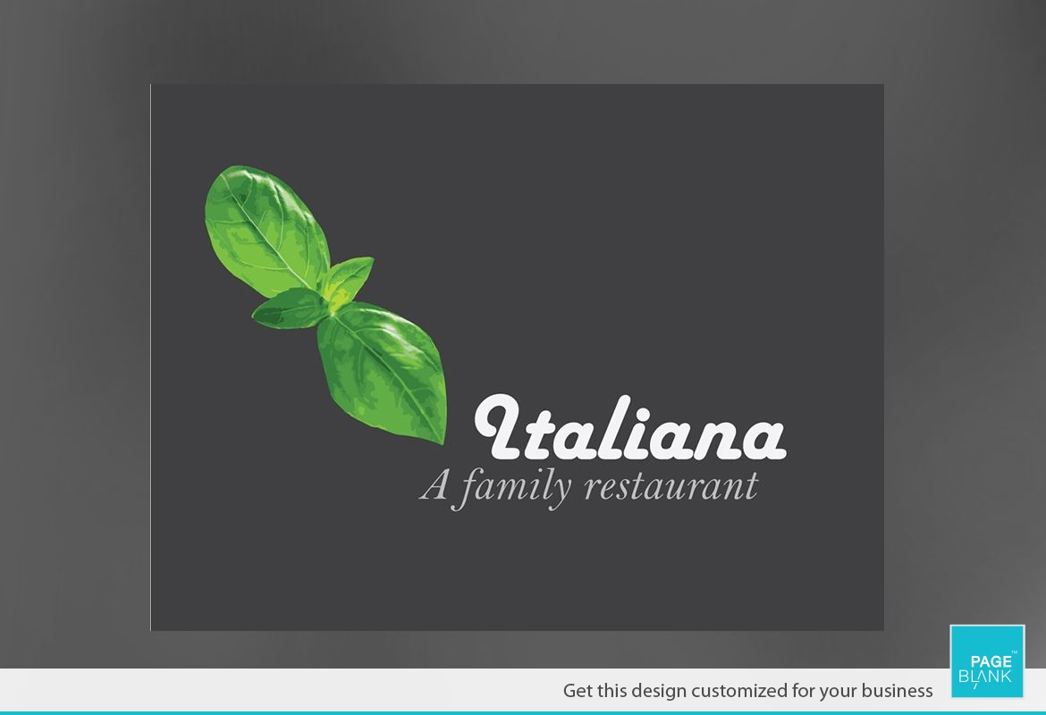 Italian restaurant Custom Logo Design Layout