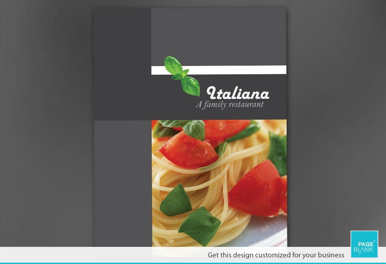 Italian Restaurant Poster Design Layout