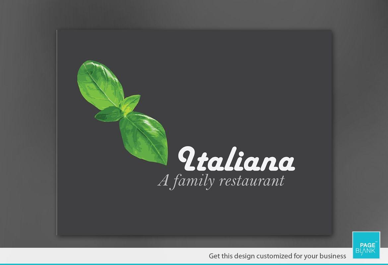 Italian restaurant Sign Design Layout
