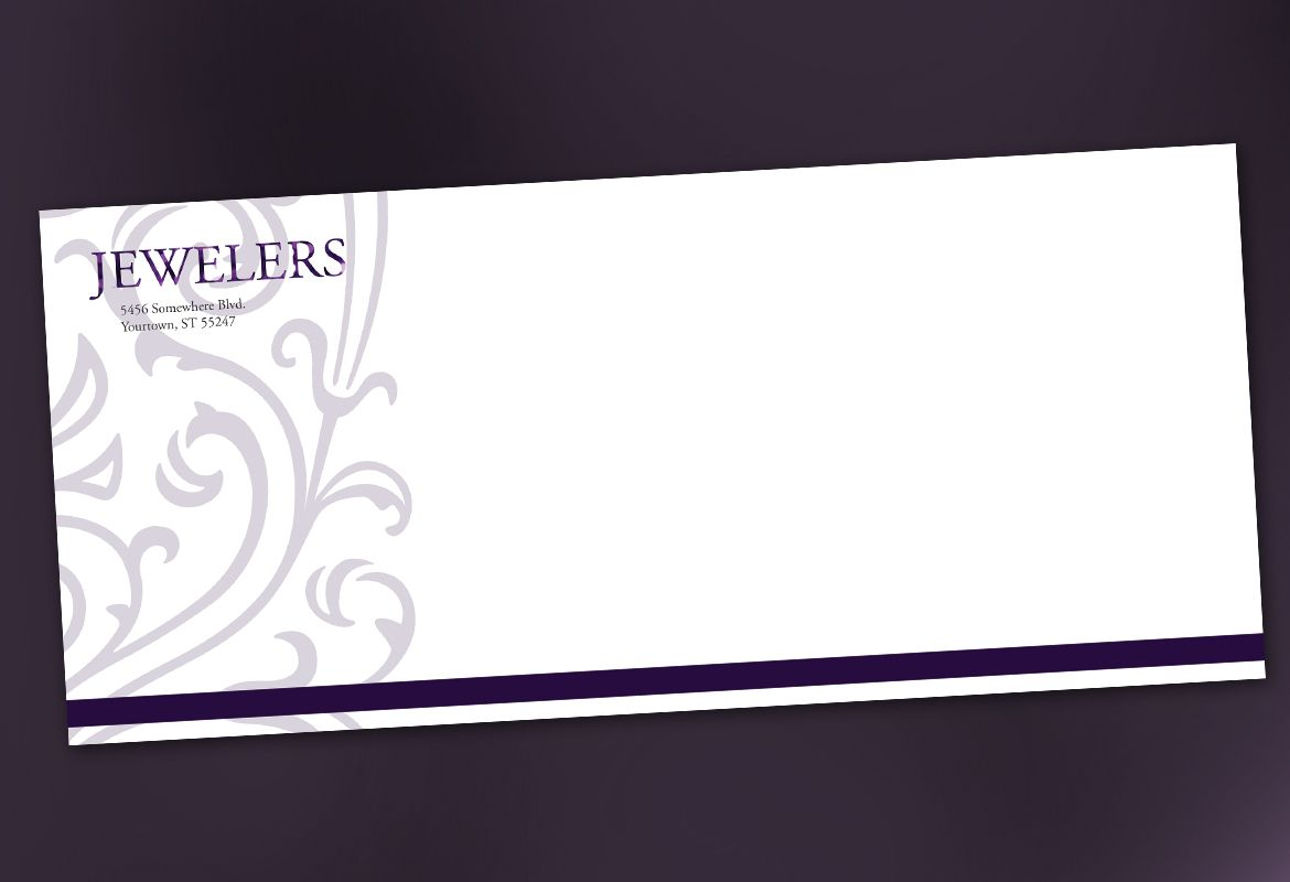 Jewelry and Retail Store Envelope Design Layout