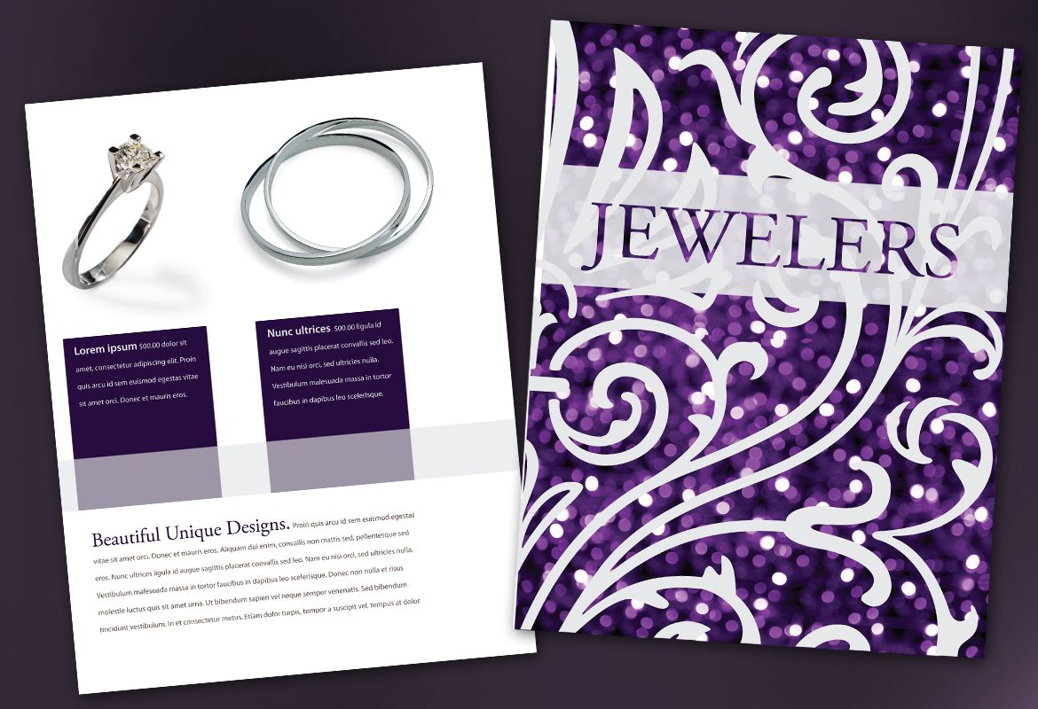 Jewelry and Retail Store Flyer Design Layout