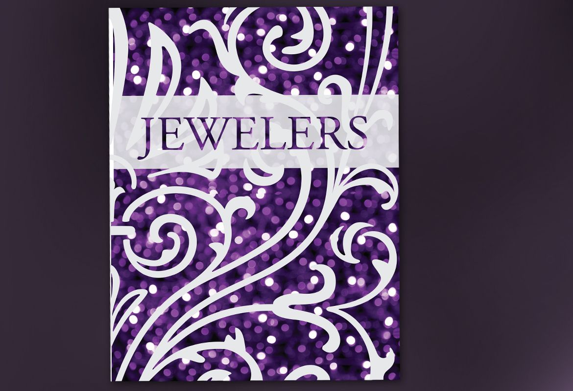 Jewelry and Retail Store Poster Design Layout