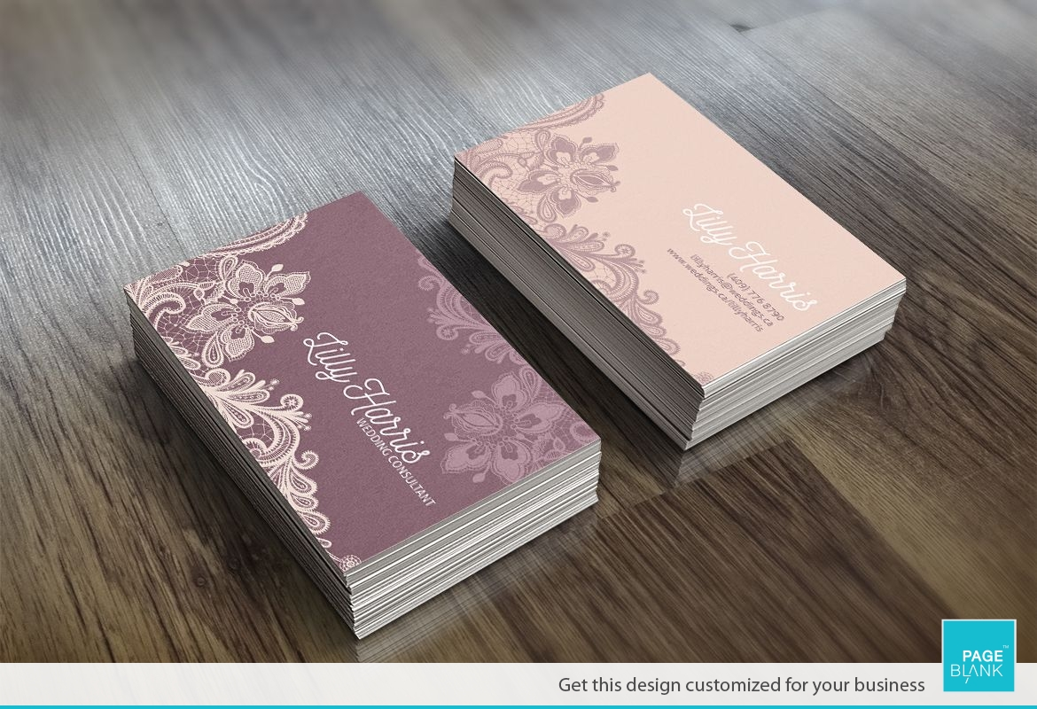 Lace Business Card Design Layout