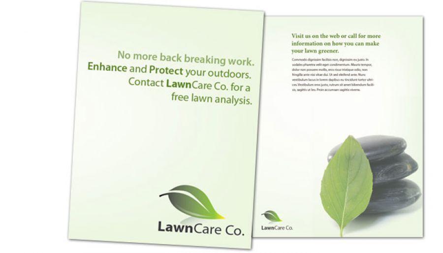 Lawncare Services Flyer Design Layout