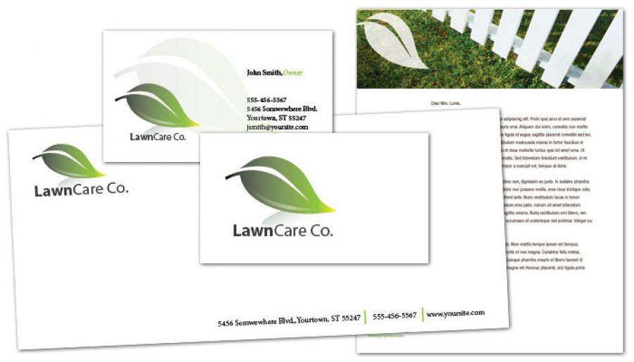 Lawncare Services Letterhead Design Layout