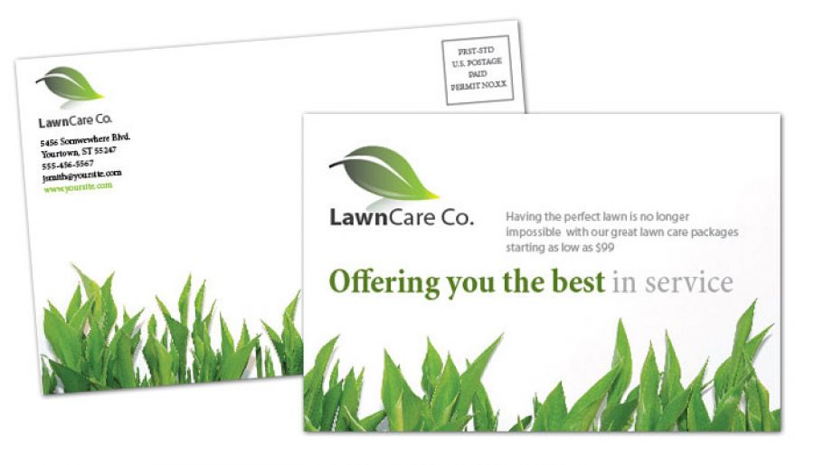Lawncare Services Postcard Design Layout