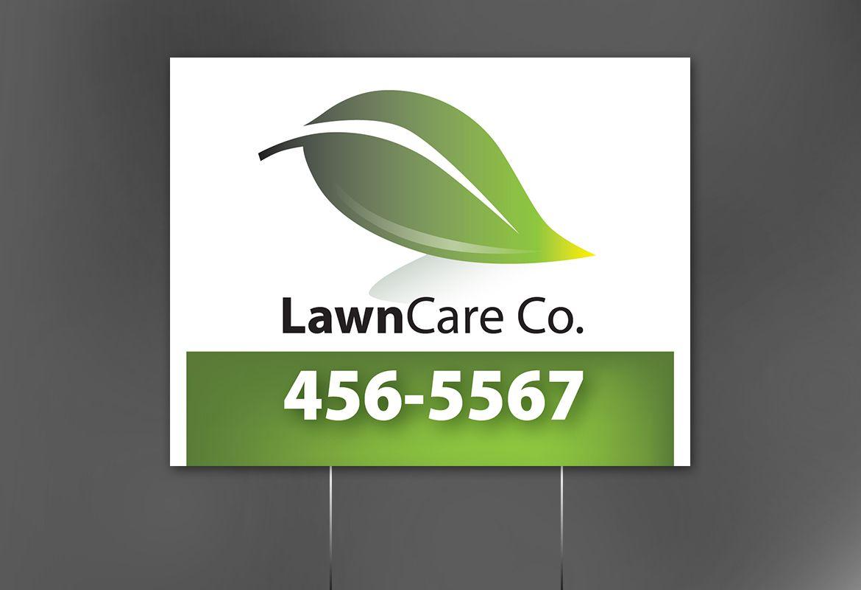 Lawncare Services Sign Design Layout