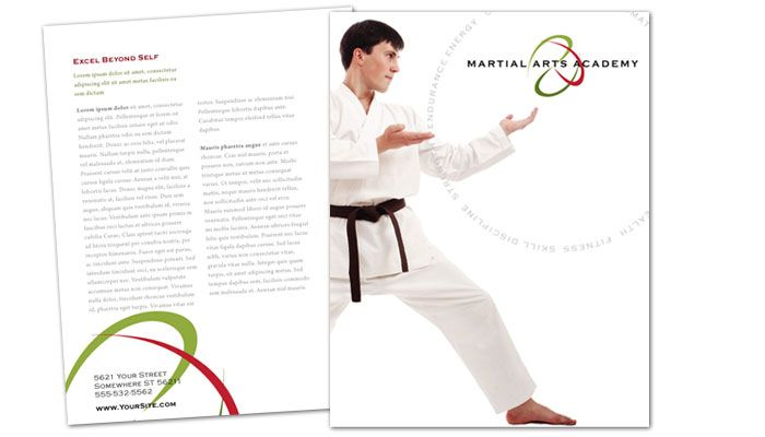 Martial Arts Instructor Schools Flyer Design Layout