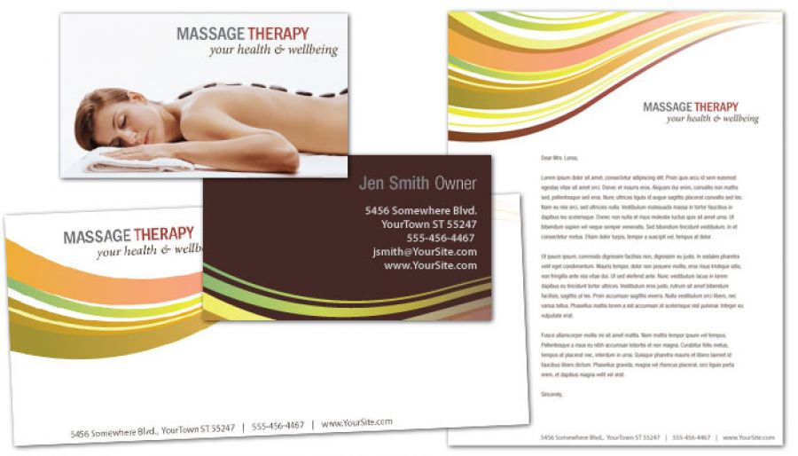 Massage Chiropractor Physical Therapy Business Card Design Layout