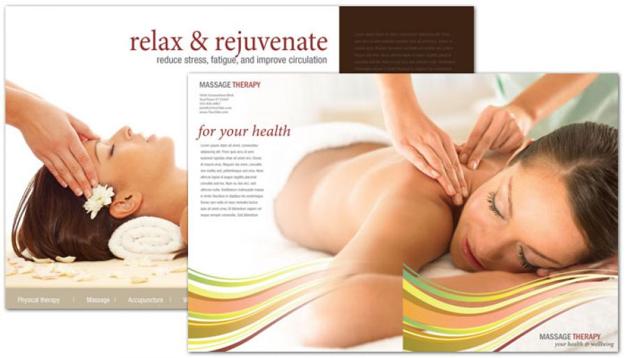 Massage Chiropractor Physical Therapy Half Fold Brochure Design Layout