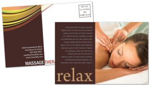 Business card template for massage chiropractor physical for Massage brochure template
