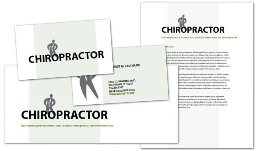 Medical Chiropractic Clinic Business Card Design Layout