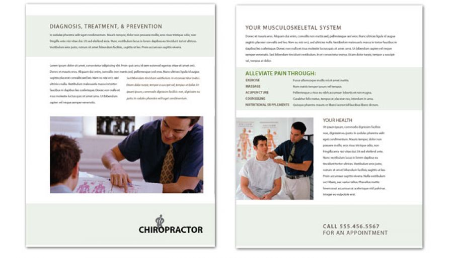 Medical Chiropractic Clinic Flyer Design Layout