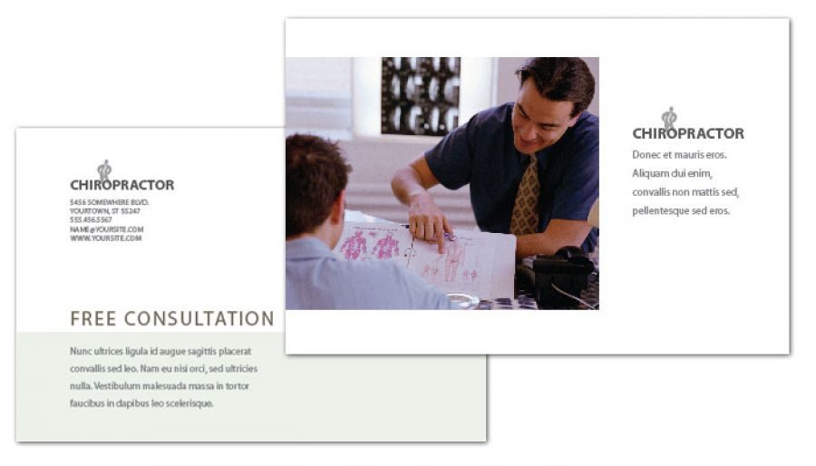 Medical Chiropractic Clinic Postcard Design Layout
