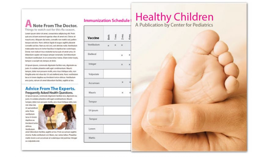 Medical Pediatric Office Flyer Design Layout
