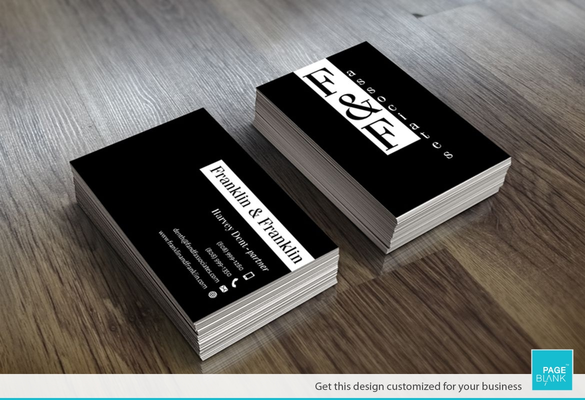 Modern Black and White Business Card Design Layout