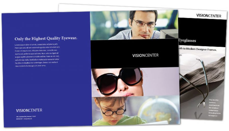 Optometry Office Eyecare Vision Center Half Fold Brochure Design Layout