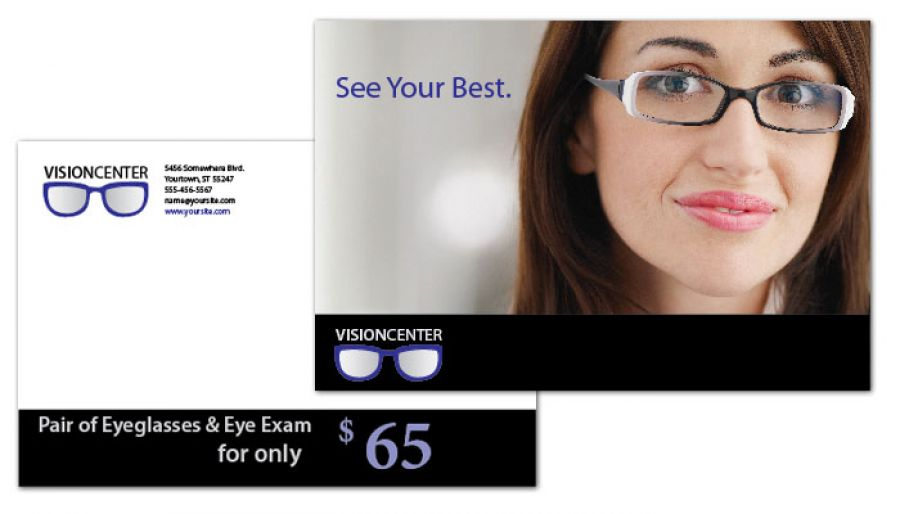 Optometry Office Eyecare Vision Center Postcard Design Layout