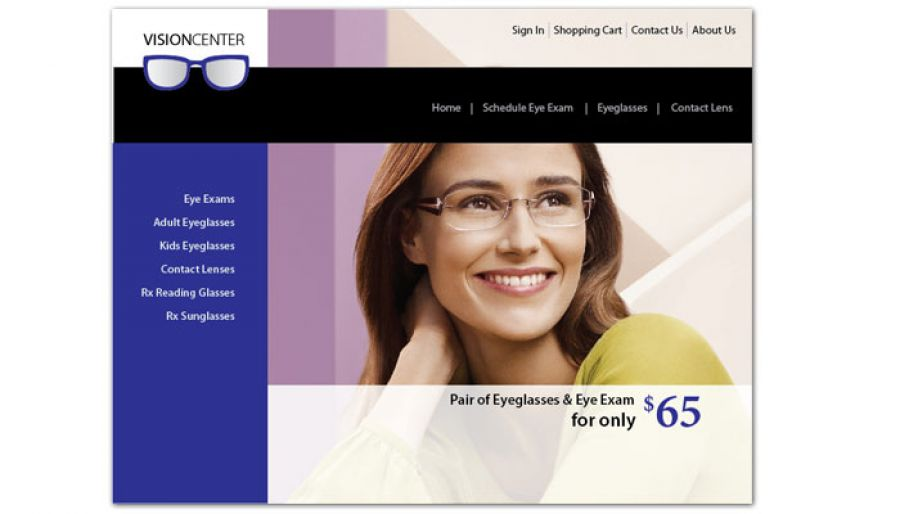 Optometry Office Eyecare Vision Center Website Design Layout