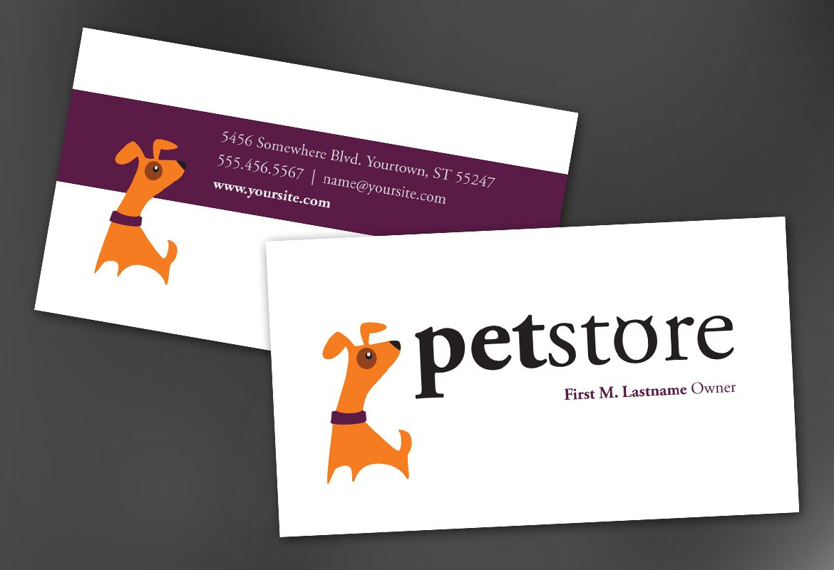 Business Card template for Pet Store Design. Order Custom Business ...