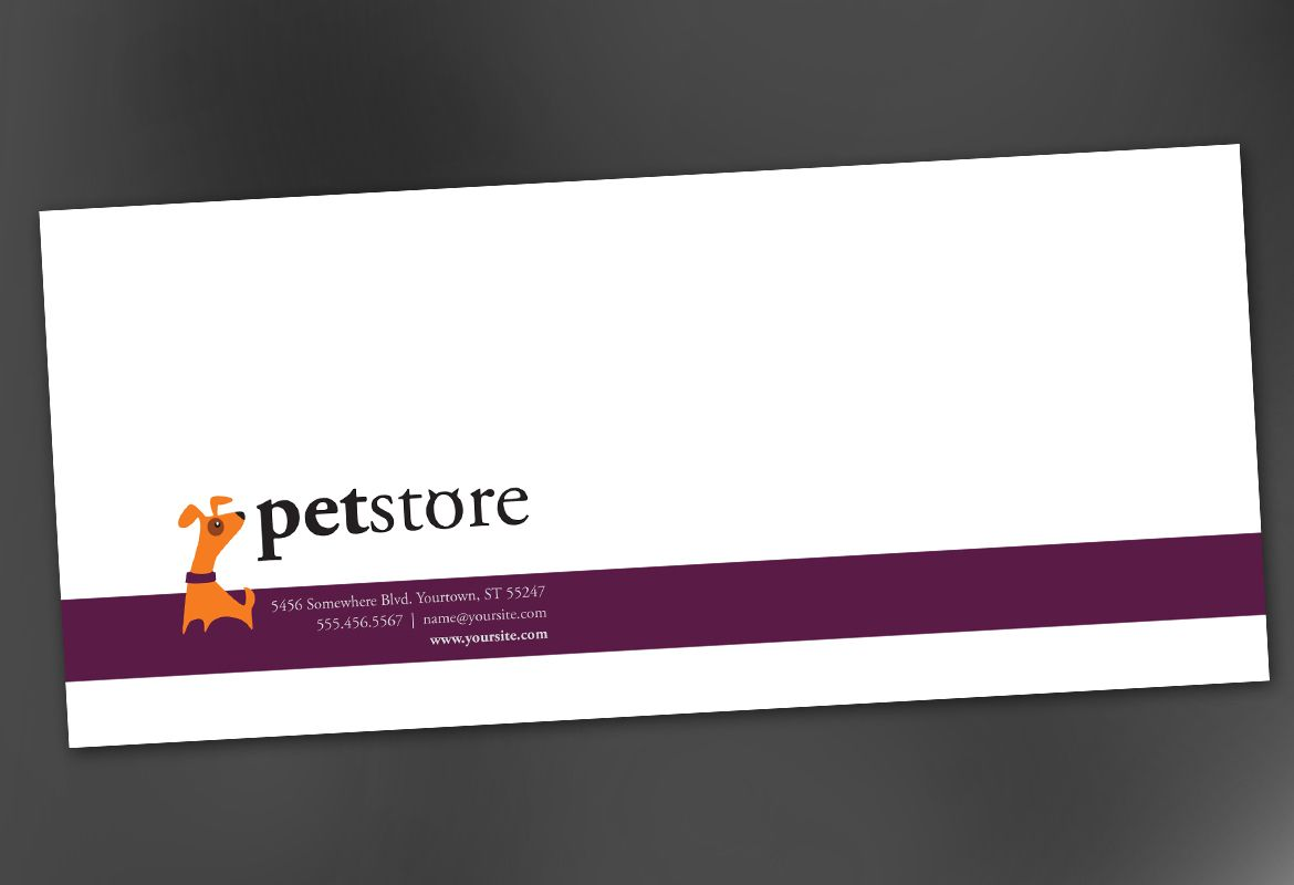 Envelope template for pet store design order custom envelope design pet store design envelope design layout maxwellsz