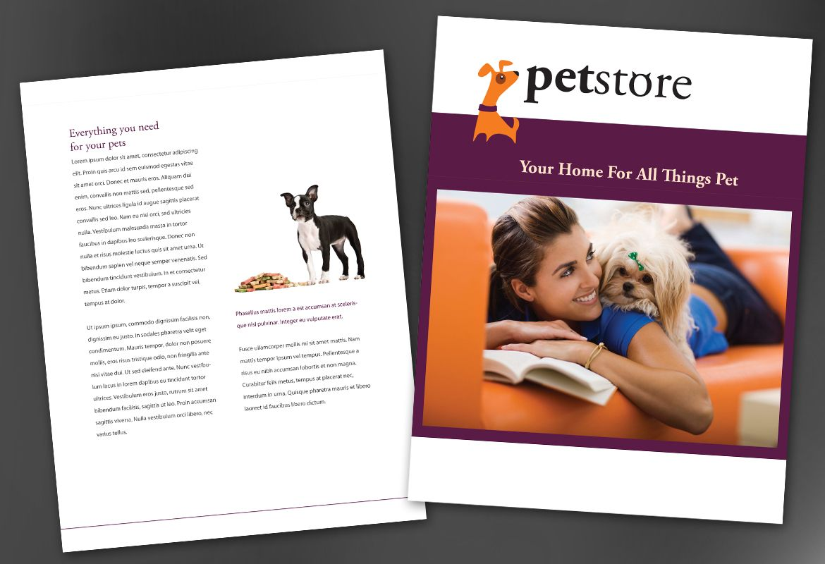 Pet Store Design Flyer Design Layout