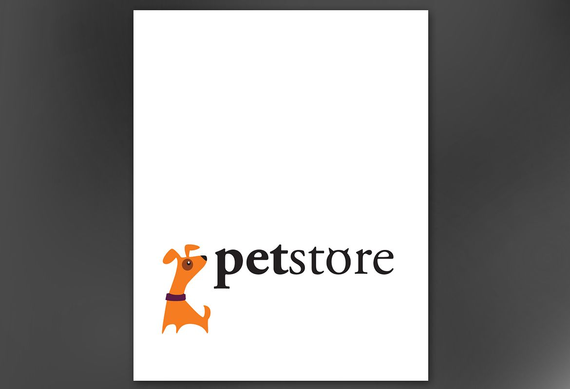 Pet Store Design Poster Design Layout