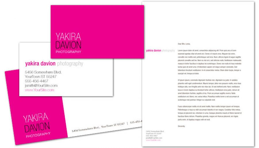 Photography Photographer Letterhead Design Layout