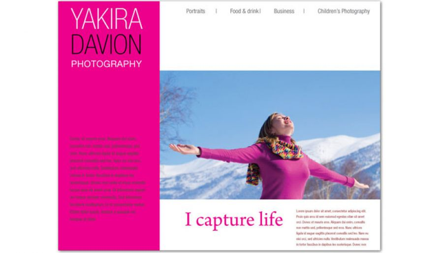 Photography Photographer Website Design Layout
