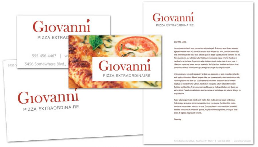 Pizza Restaurant Envelope Design Layout