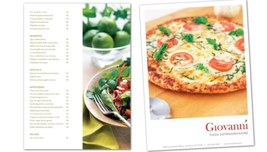 Flyer Template For Pizza Restaurant Order Custom Flyer Design