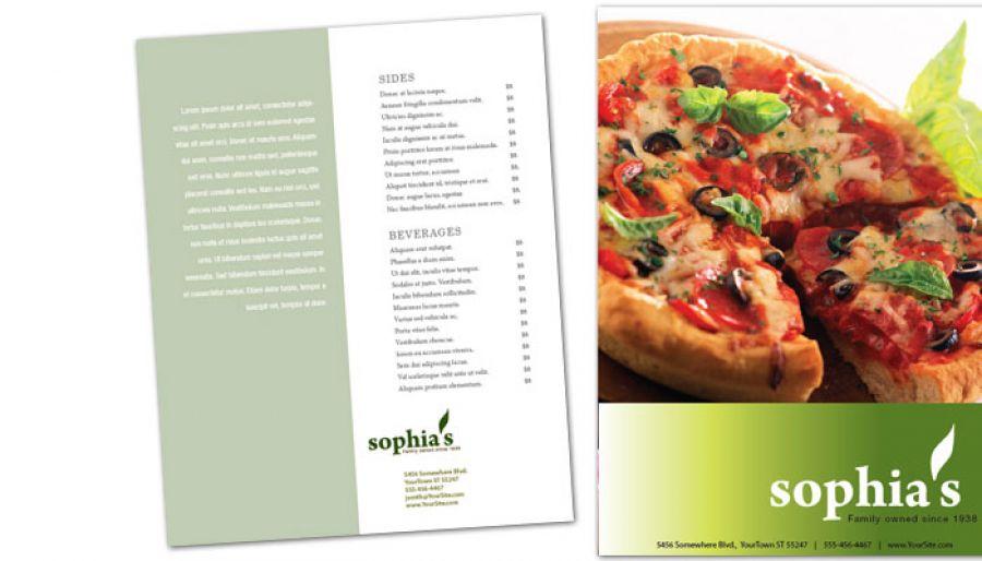 Pizzeria Restaurant Flyer Design Layout
