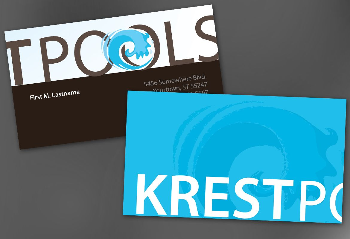Pool Company Business Card Design Layout