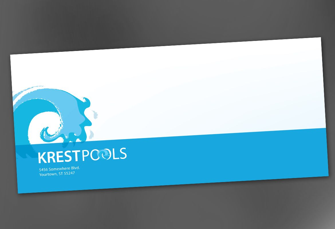 Pool Company Envelope Design Layout