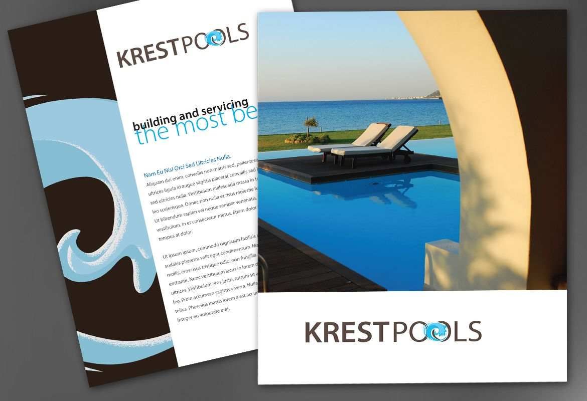 Pool Company Flyer Design Layout