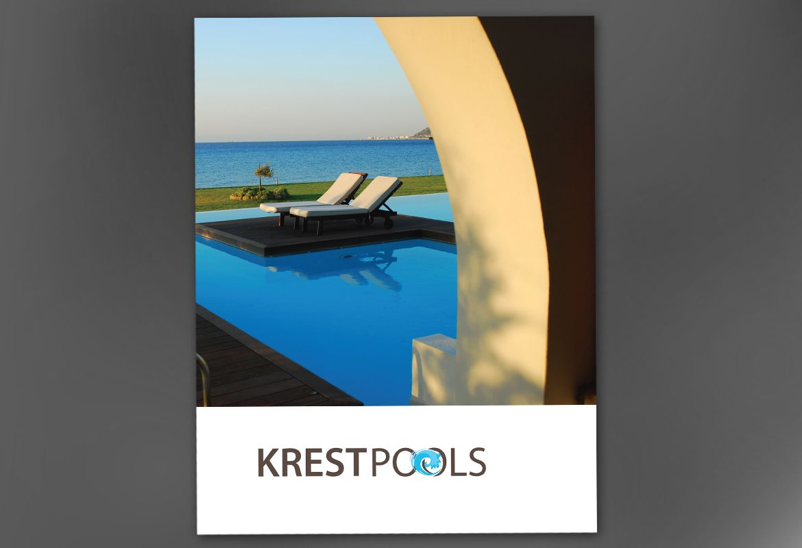 Pool Company Poster Design Layout