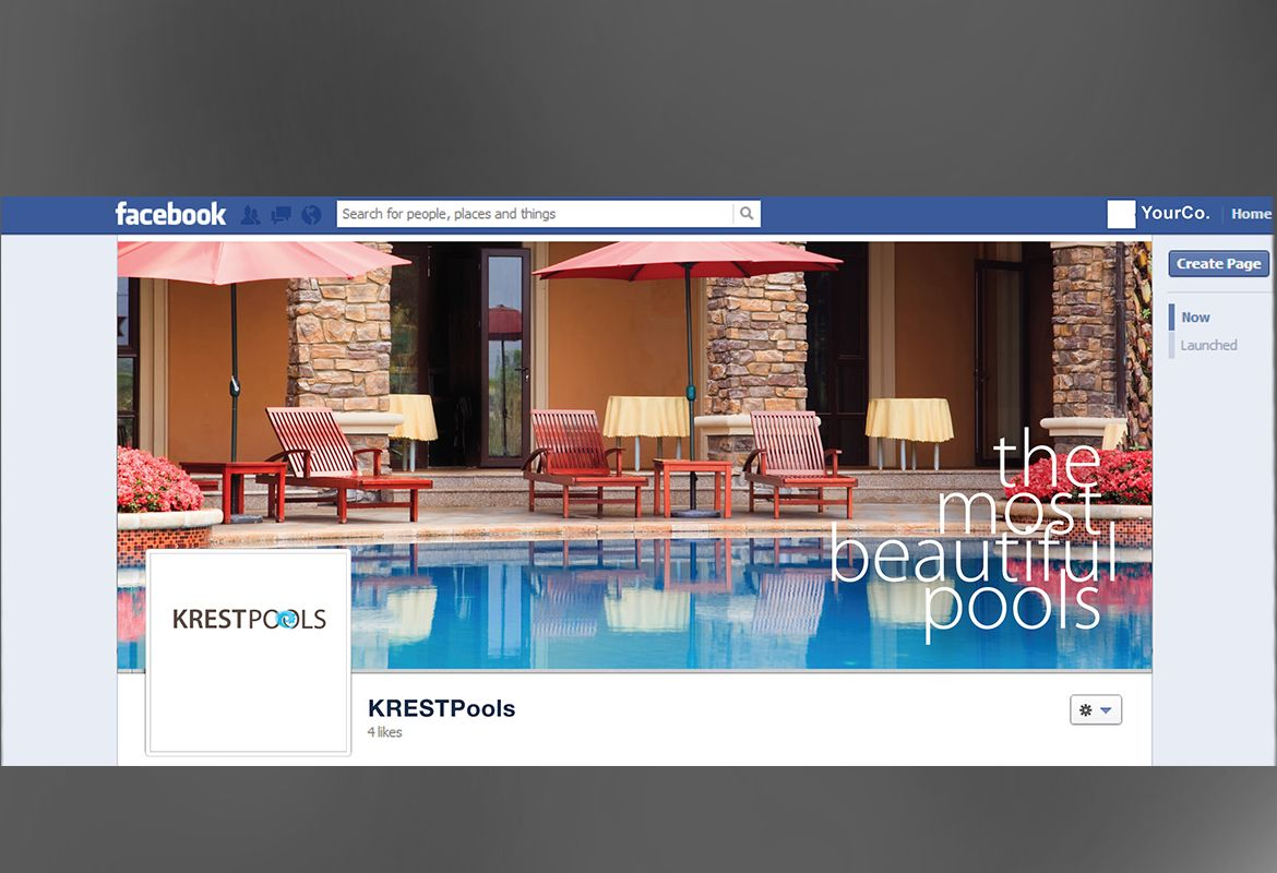 Pool Company Twitter Facebook Cover Design Layout