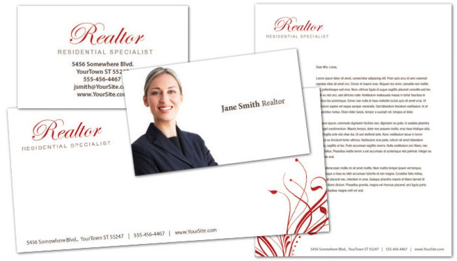 Real Estate Agent Business Card Design Layout