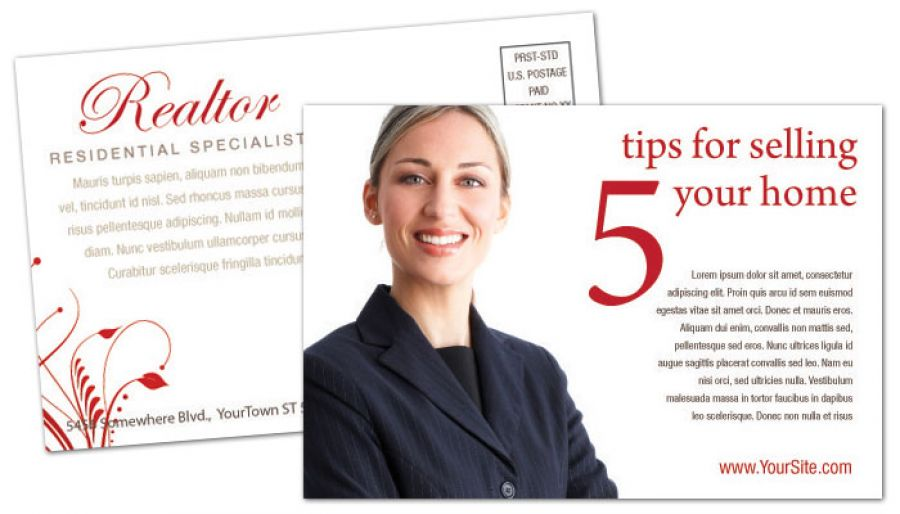 Real Estate Agent Postcard Design Layout