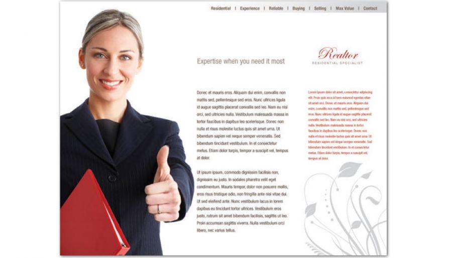 Real Estate Agent Website Design Layout