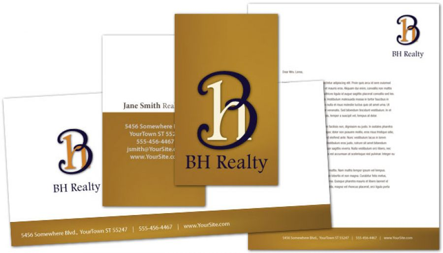 Realtor Agent & Realty Agency Envelope Design Layout