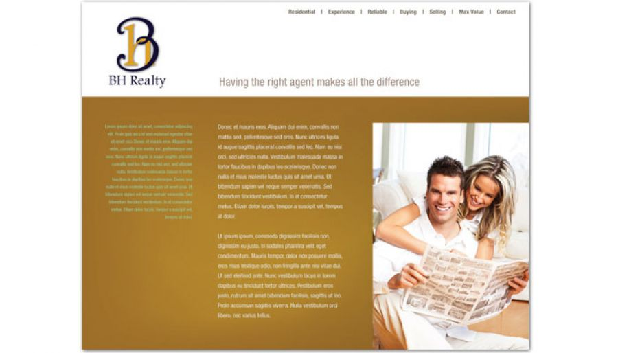 Realtor Agent & Realty Agency Website Design Layout