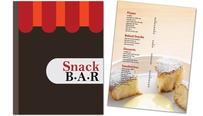 Snack Bar Cafe Deli Restaurant Flyer Design Layout