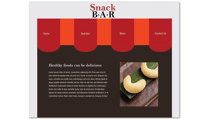 Snack Bar Cafe Deli Restaurant Website Design Layout
