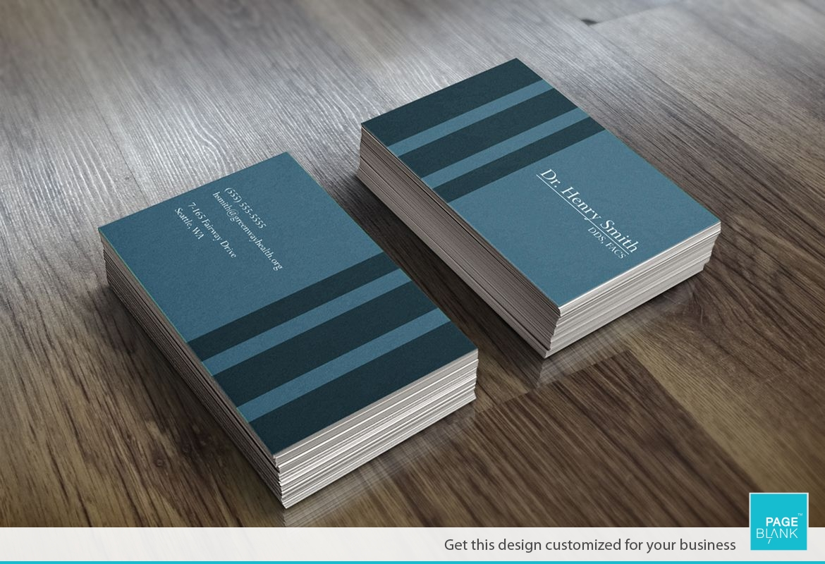 Stripes Business Card Design Layout