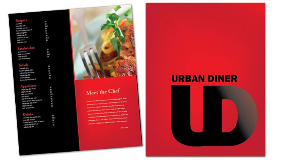 Urban Diner Restaurant Flyer Design Layout
