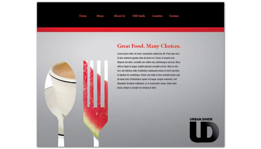 Urban Diner Restaurant Website Design Layout