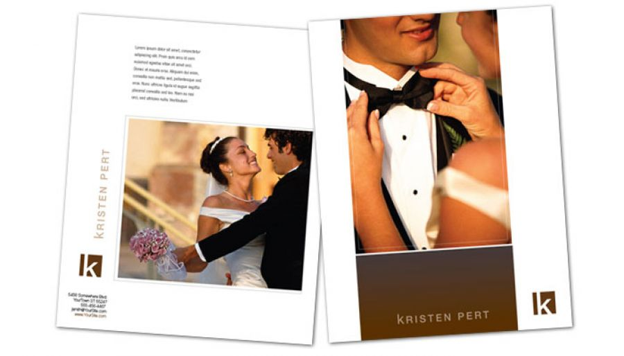 Wedding Event Photographer Flyer Design Layout
