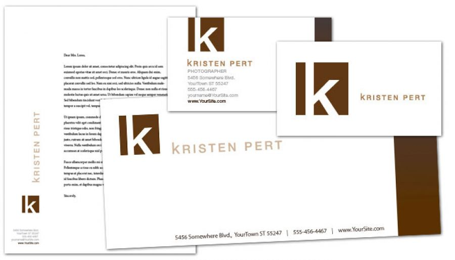 Wedding Event Photographer Letterhead Design Layout